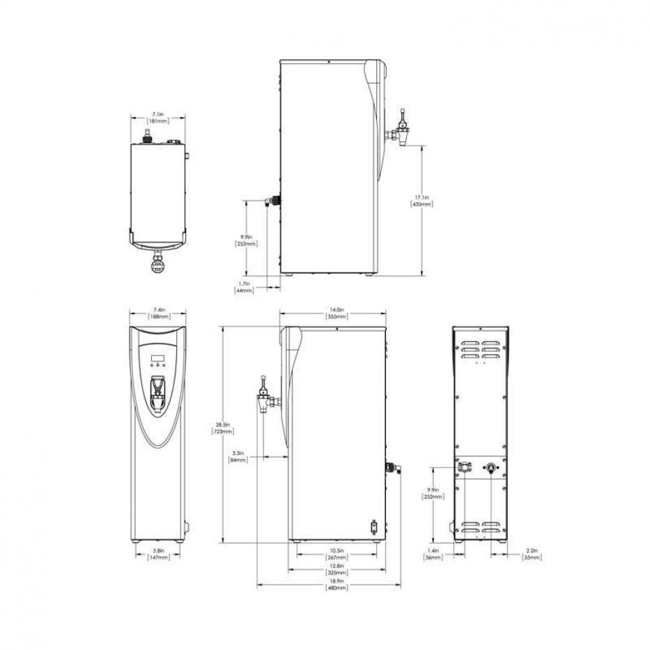 Calentador de Agua H5X Negro 220V