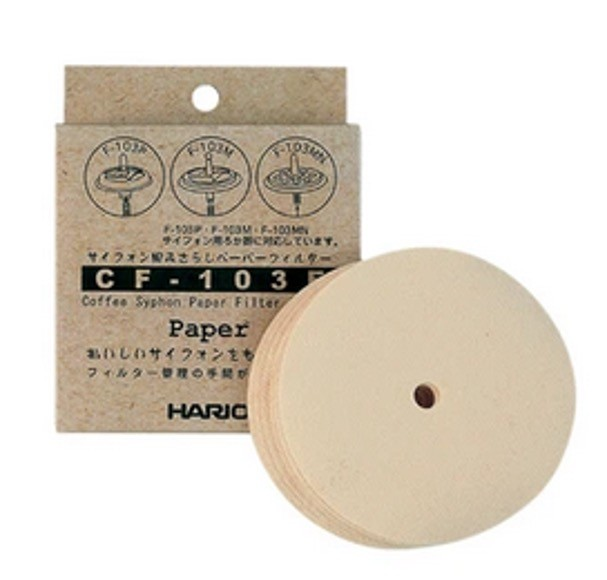Filtros Hario redondos papel sifón - Caja x 100