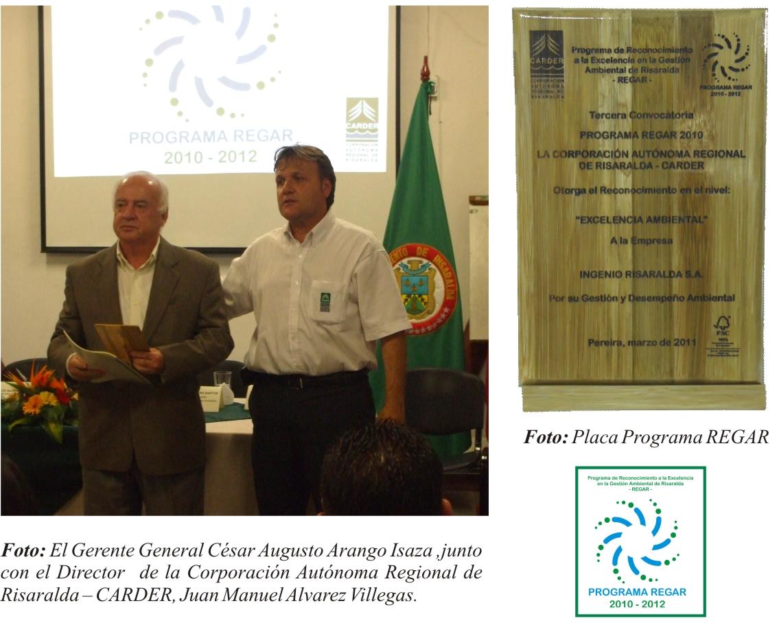 Reconocimiento Premio REGAR 2010-2012