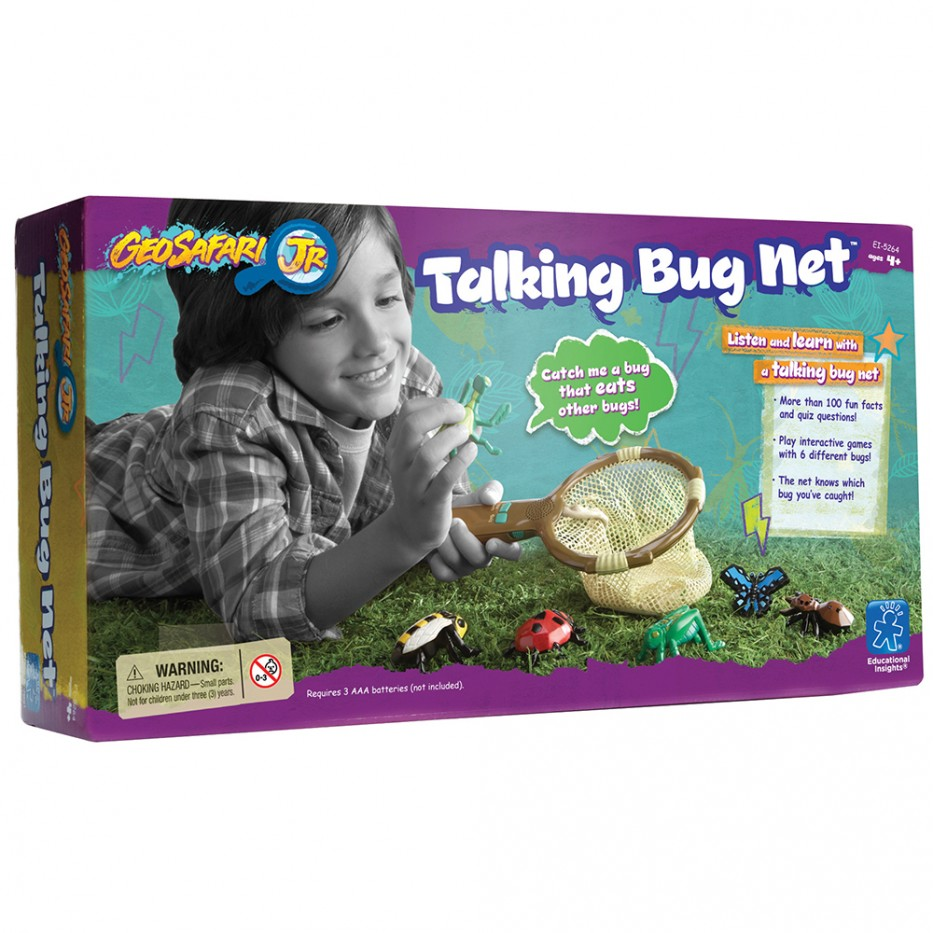 GEOSAFARI® JR. FUN FACTS TALKING BUG NET