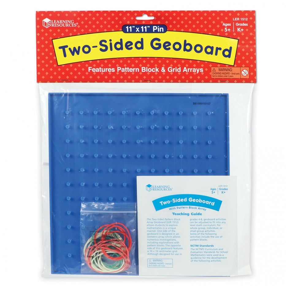 TWO-SIDED PATTERN BLK. ARRAY GEOBOARD