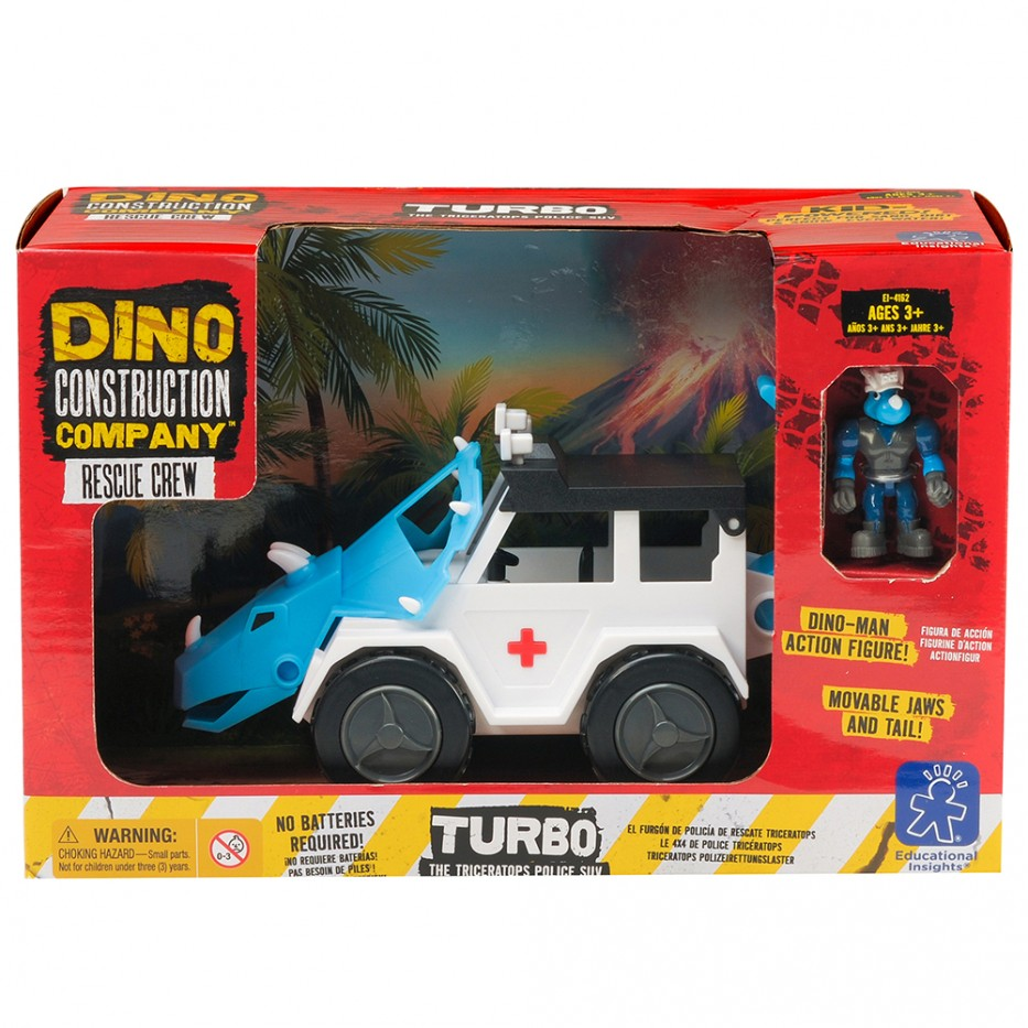 TURBO THE TRICERATOPS POLICE SUV