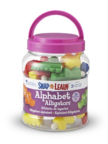 SNAP'N'LEARN ® ALPHABET ALLIGATORS