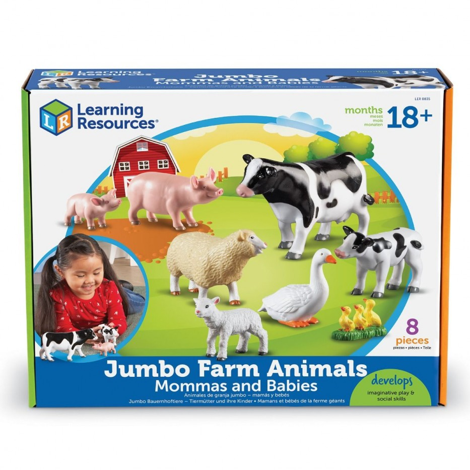 JUMBO FARM ANIMALS: MOMMAS AND BABIES- FARM  -  2016 NEW