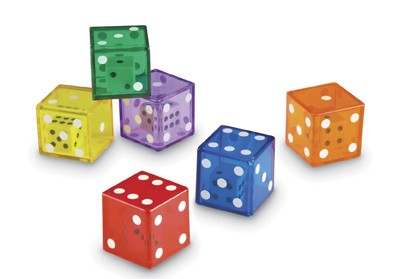 JUMBO DICE IN DICE SET DE 12 UNIDADES