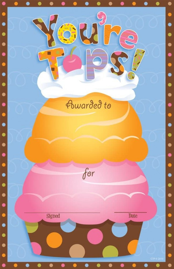 YOU'RE TOPS! AWARDS
