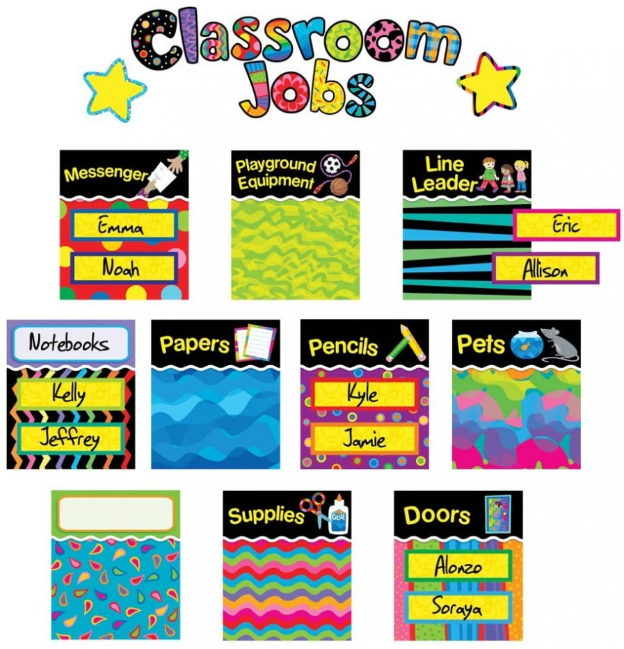 POPPIN' PATTERNS CLASSROOM JOBS MINI BULLETIN BOARDS
