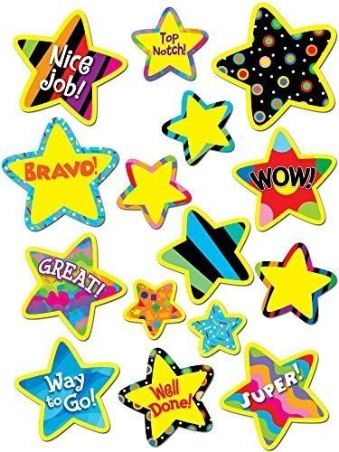 POPPIN' PATERN BRIGHT START STICKERS