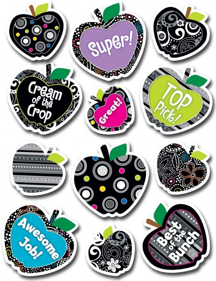 BW APPLES STICKERS