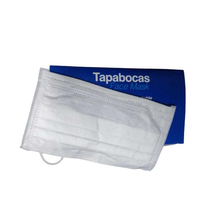 TAPABOCAS DESECHABLE CAJA X 50 UNIDADES