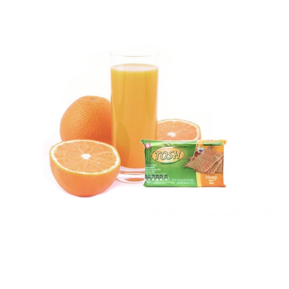 Combo Jugo de Naranja con Tosh Miel