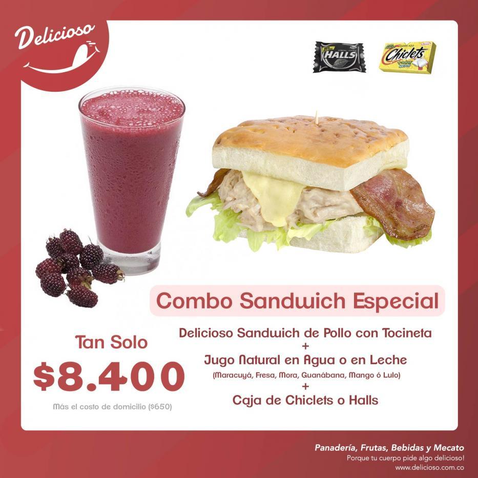Combo Sandwich Especial de Pollo + Jugo Natural