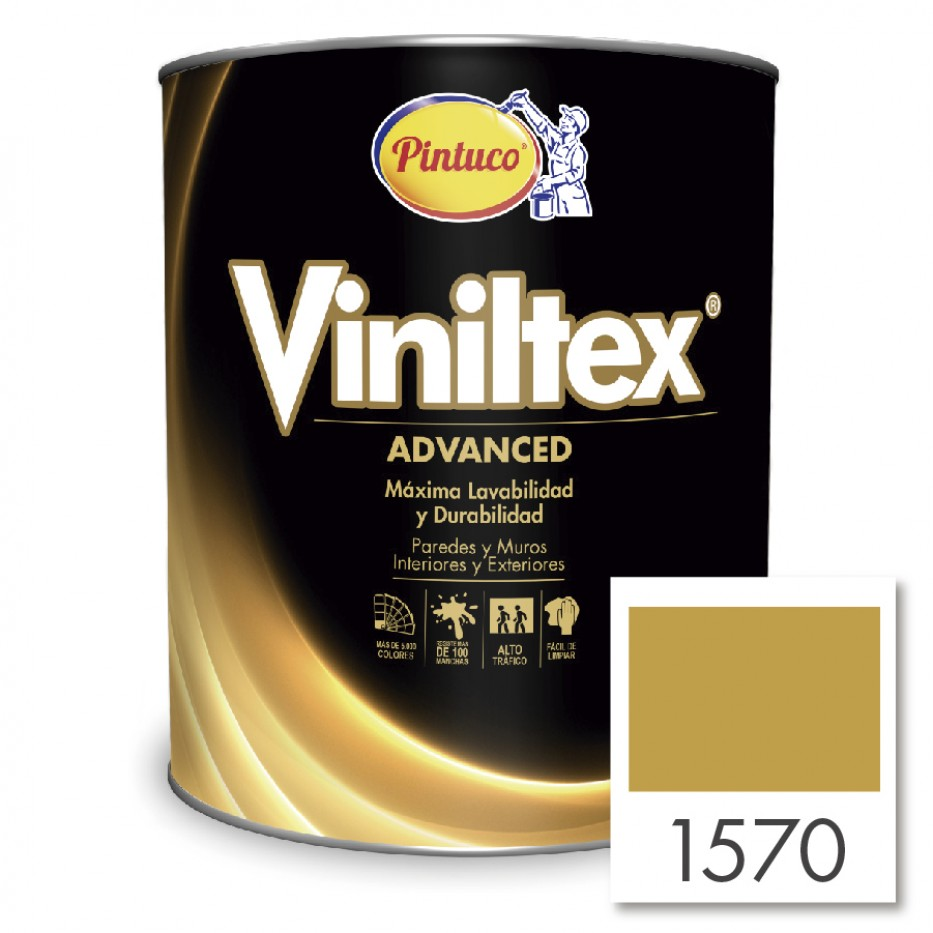 Viniltex Advanced Amarillo oro 1570