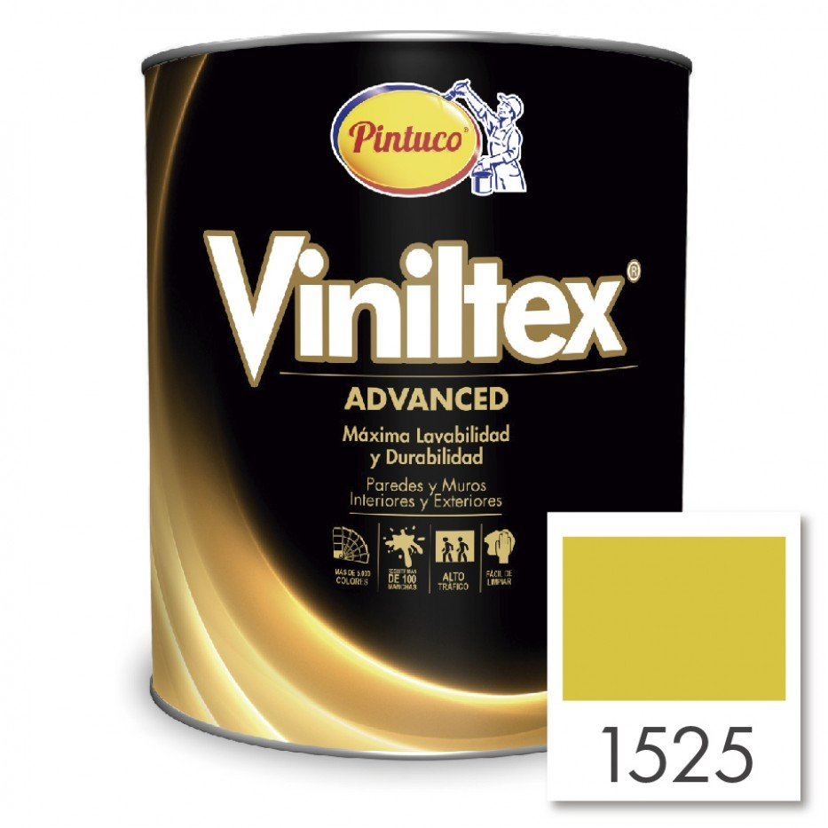 Viniltex  Advanced Amarillo vivo 1525