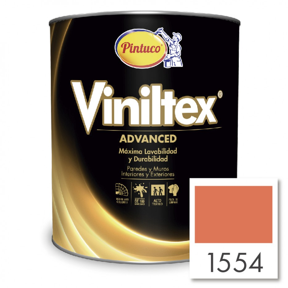 Viniltex Advanced Mandarina tropical 1554