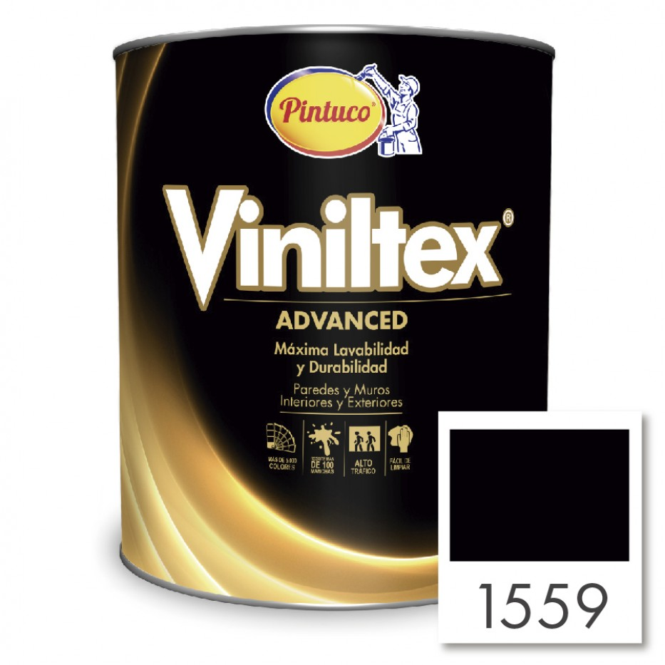 Viniltex Advanced Negro 1559