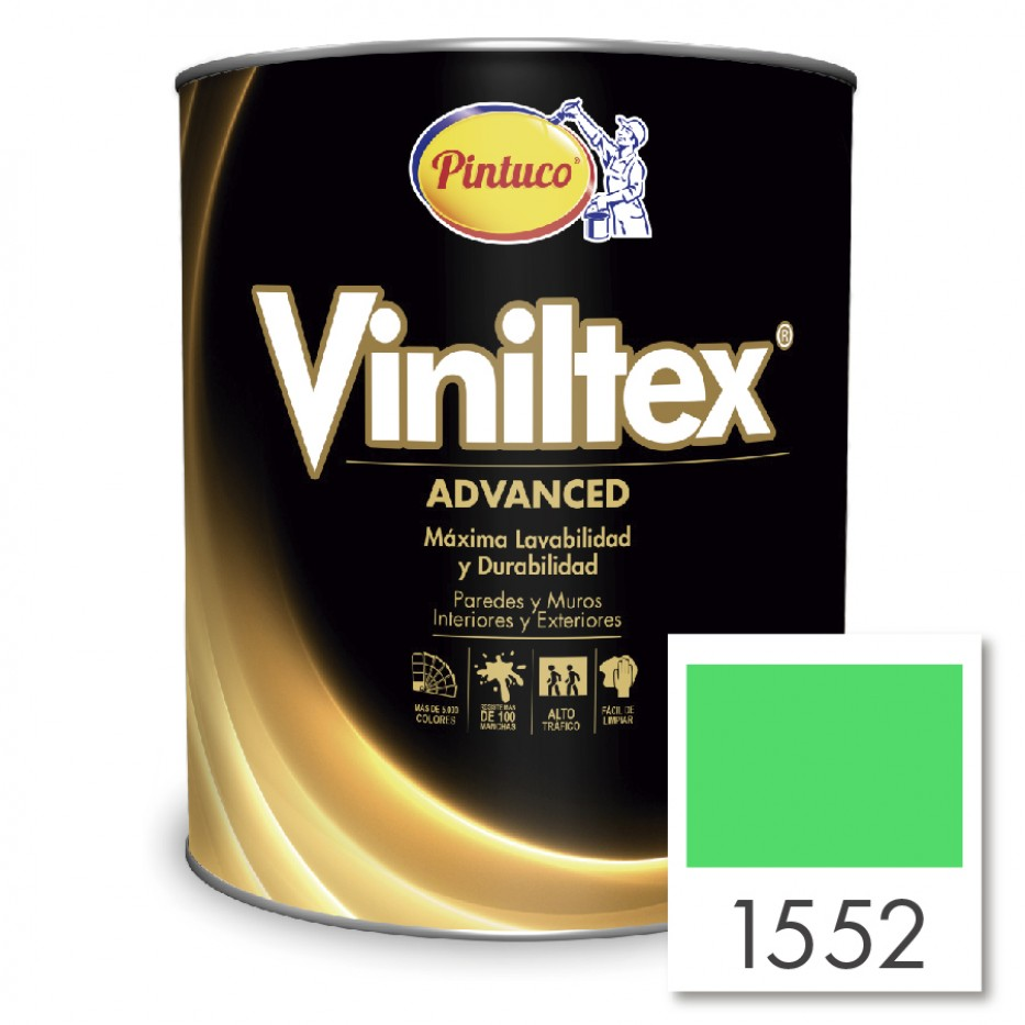 Viniltex  Advanced Verde primaveral 1552