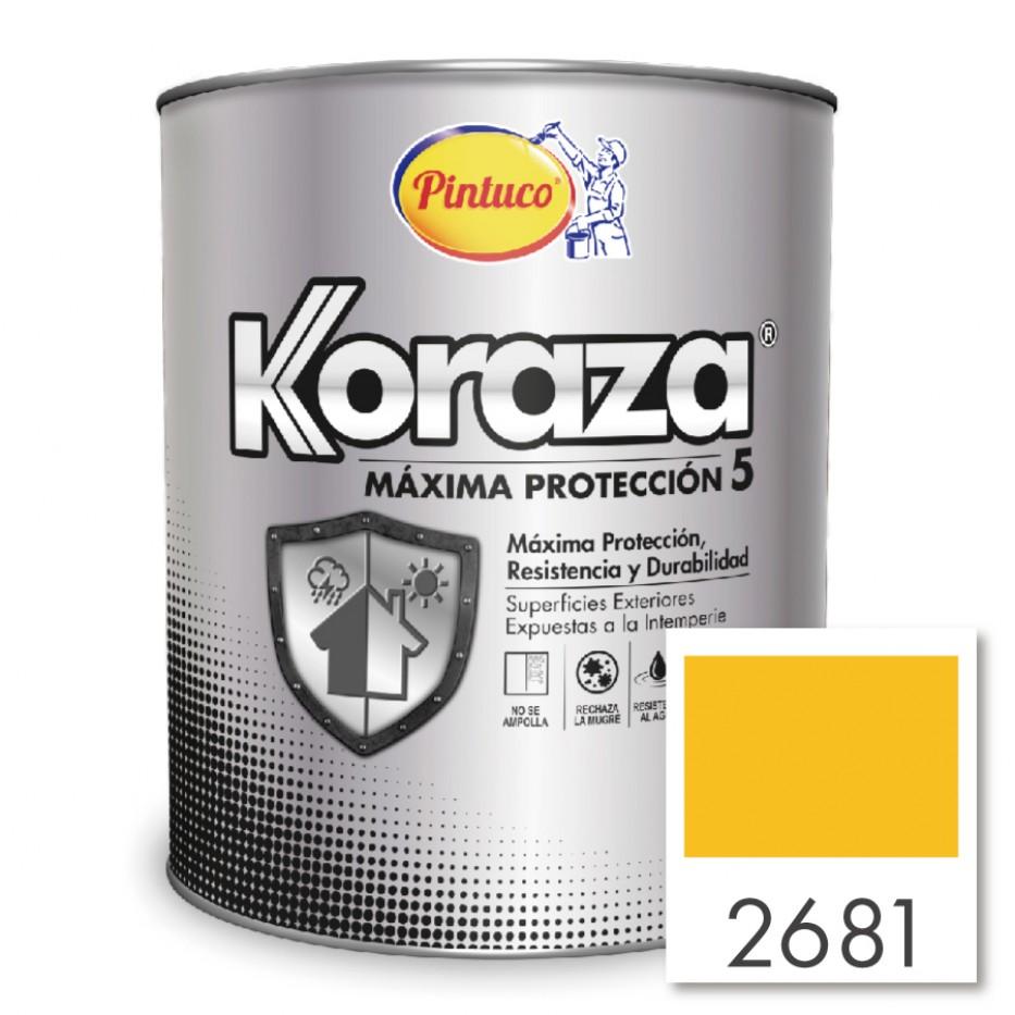 Pintura Koraza Amarillo tostado 2681 Galón