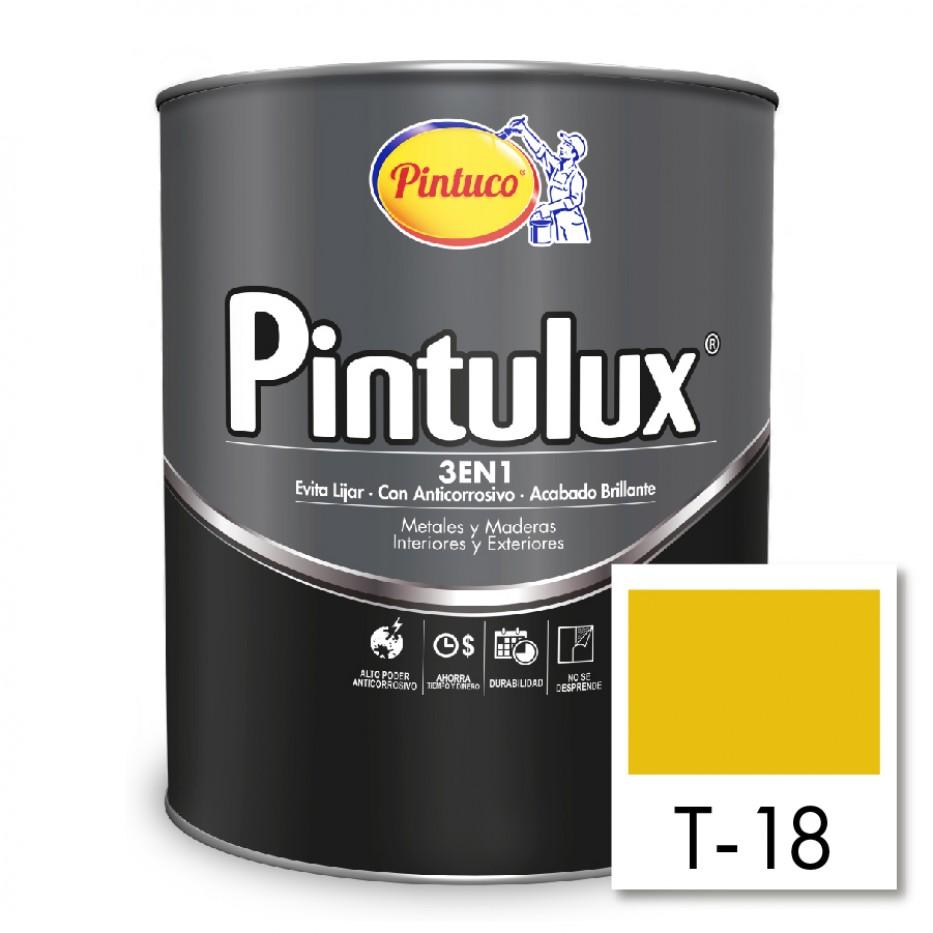 Esmalte Pintulux 3 en 1  Brillante Amarillo T-18