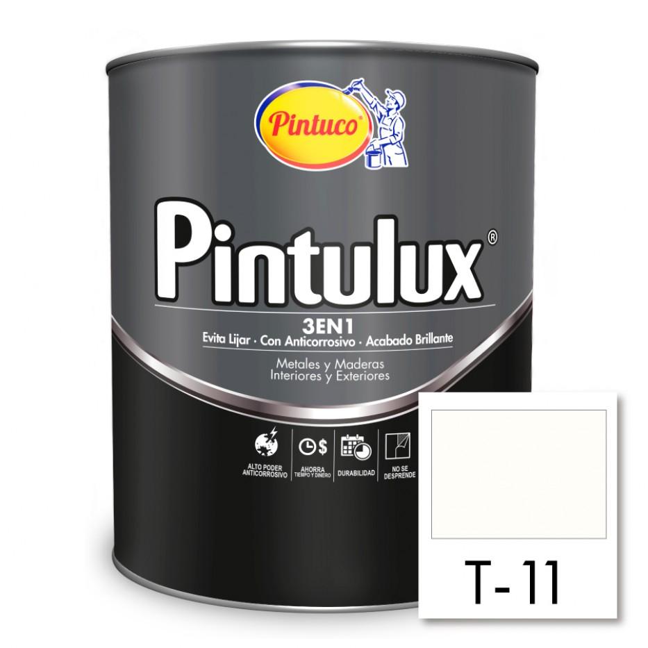 Esmalte Pintulux 3 en 1 brillante Blanco T-11