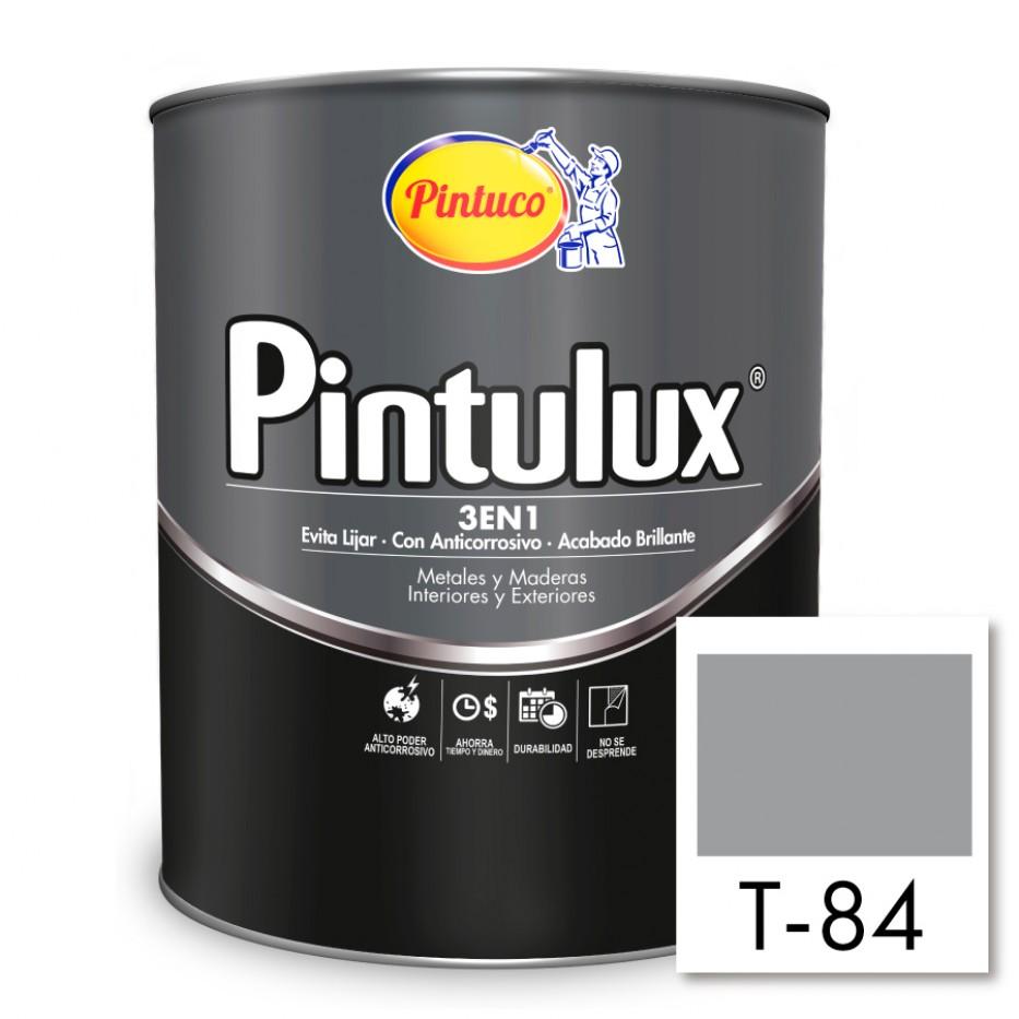 Esmalte Pintulux 3 en 1 brillante Gris plata T-84
