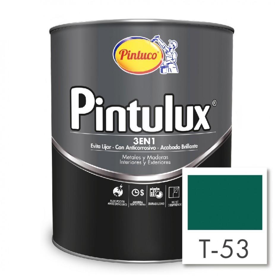 Esmalte Pintulux 3 en 1 Brillante Verde esmeralda T-53