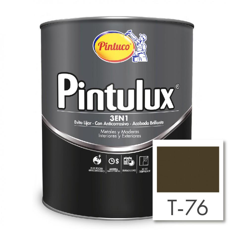 Esmalte Pintulux 3 en 1 Brillante Caoba T-76
