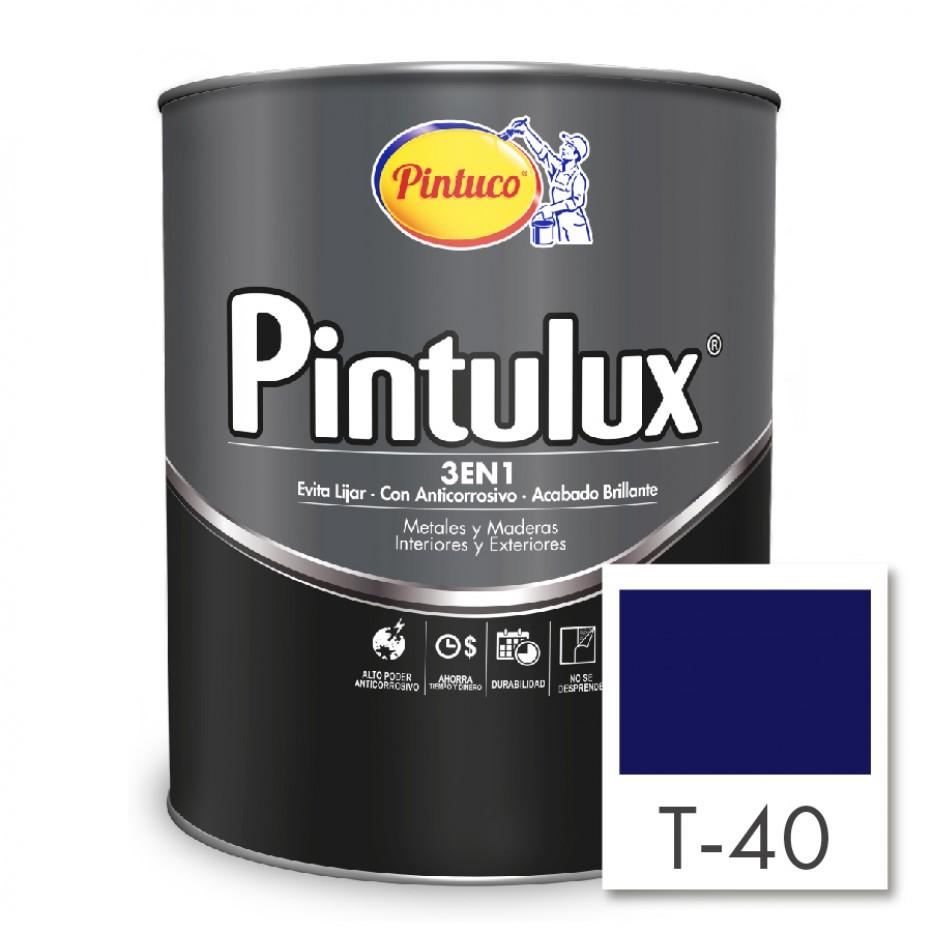 Esmalte Pintulux 3 en 1 Brillante Azul español 40