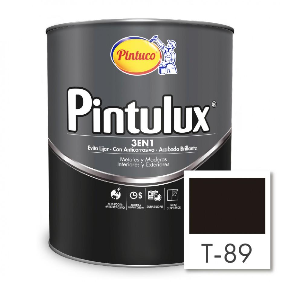 Esmalte Pintulux 3 en 1 Negro mate 89