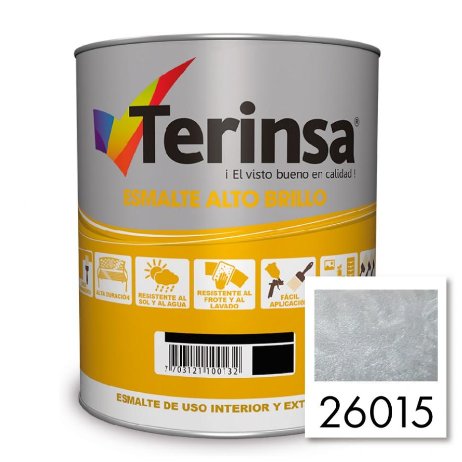 Esmalte Terinsa alto brillo Aluminio 26015