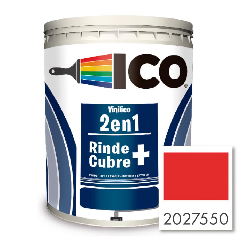 Ico Vinilico 2 en 1 Concentrado rojo 2027550 Galón