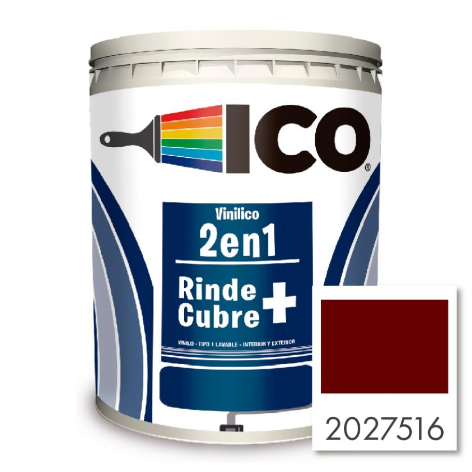 Ico Vinilico 2 en 1 Rojo colonial 2027516 Galón