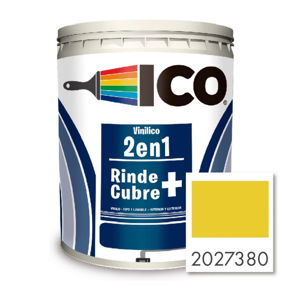 Pintura Ico Vinilico 2 en 1 Concentrado amarillo vivo 2027380 Galón