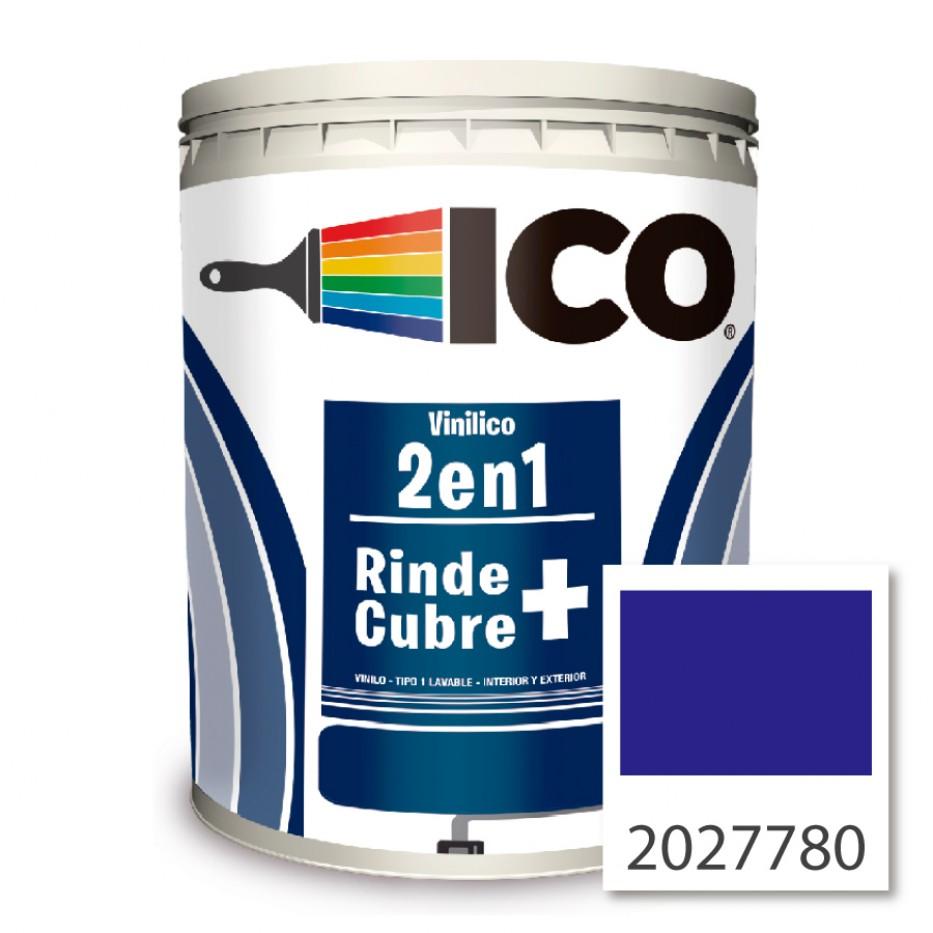 Pintura Ico Vinilico 2 en 1 concentrado Azul mediterráneo 2027780 Galón