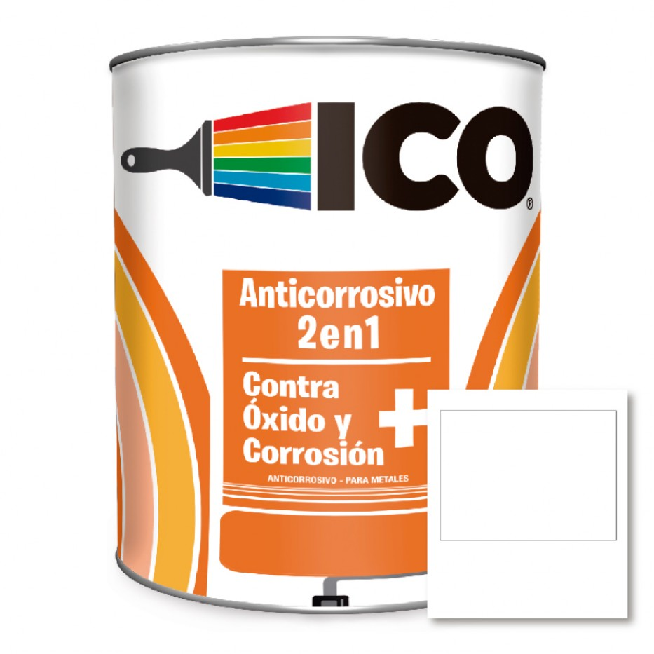 Ico Anticorrosivo 2 en 1 Blanco 4041100 Galón