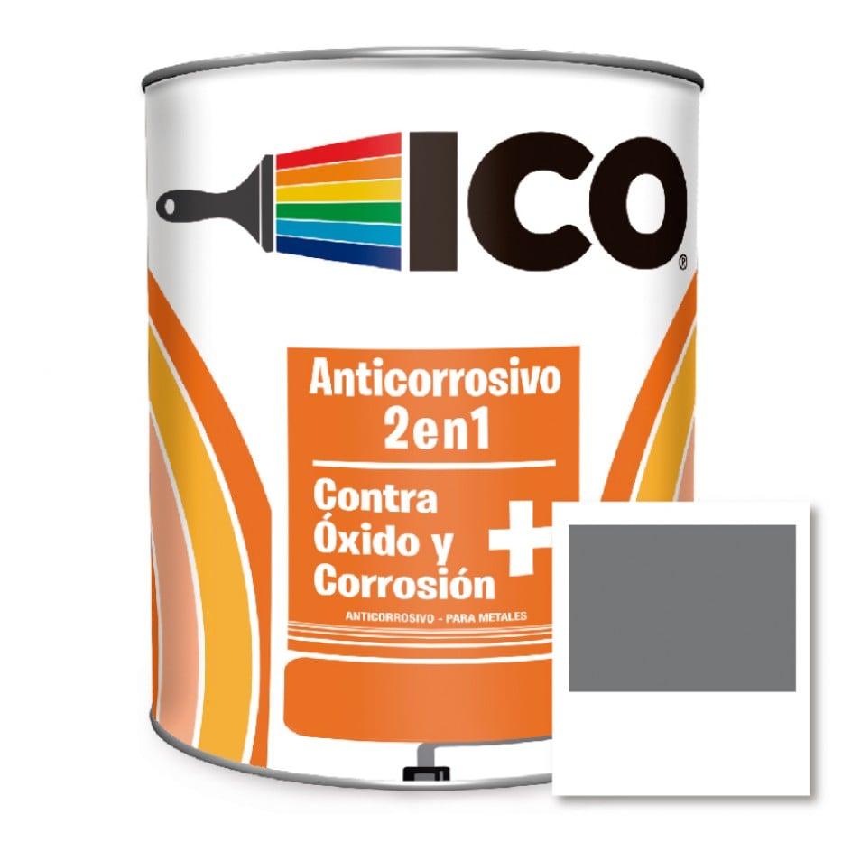 Ico Anticorrosivo 2 en 1 Gris 4041308 Galón