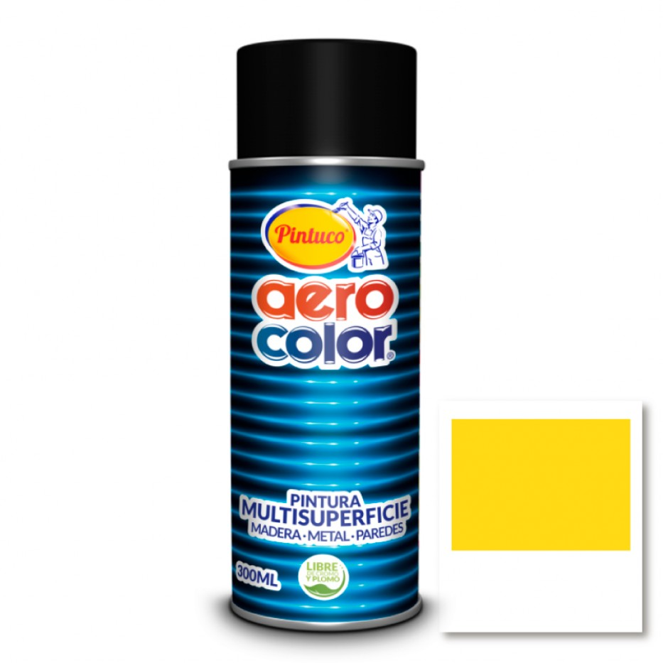 Aerocolor Laca Amarillo medio brillante 300 ml