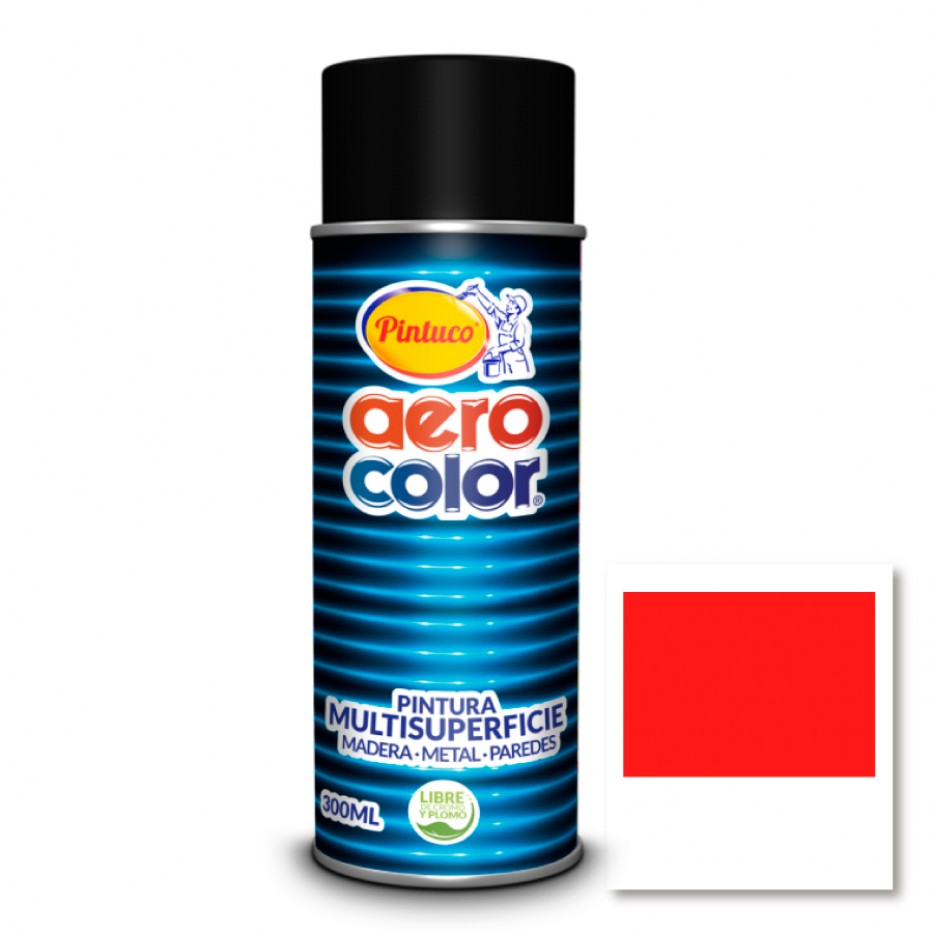 Aerocolor Laca Bermellón brillante 300 ml