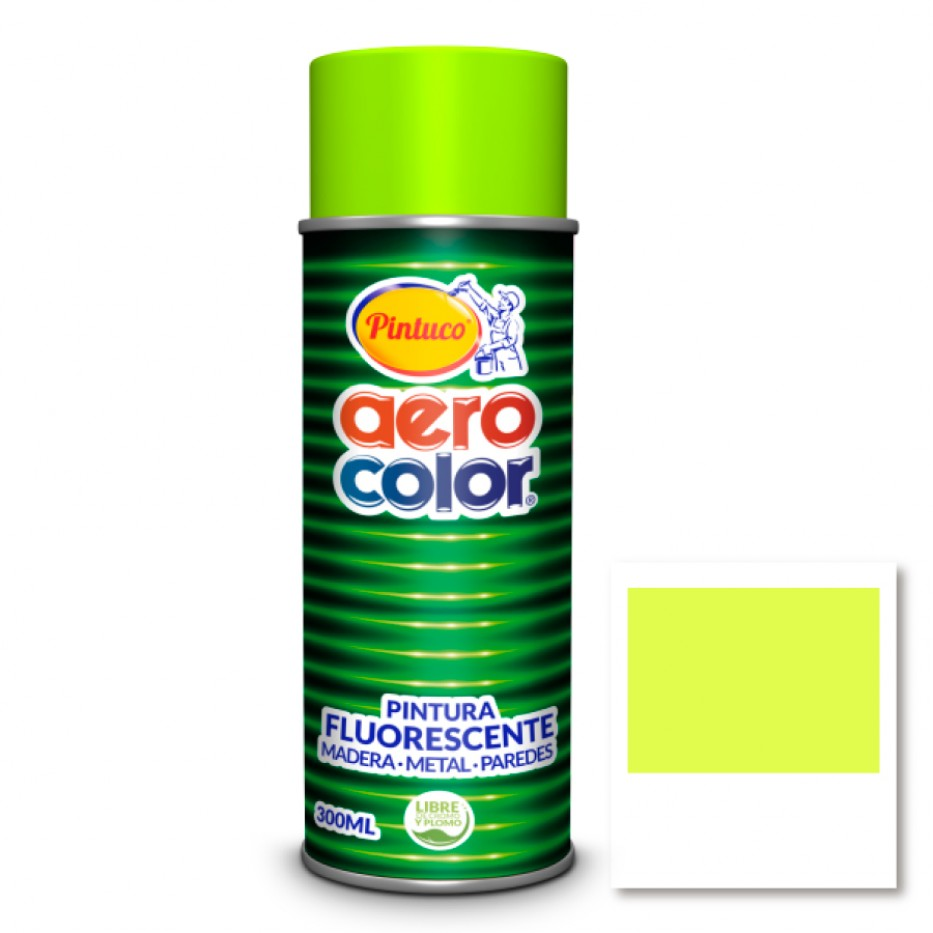 Aerocolor Laca Fluorescente Amarillo 300 ml
