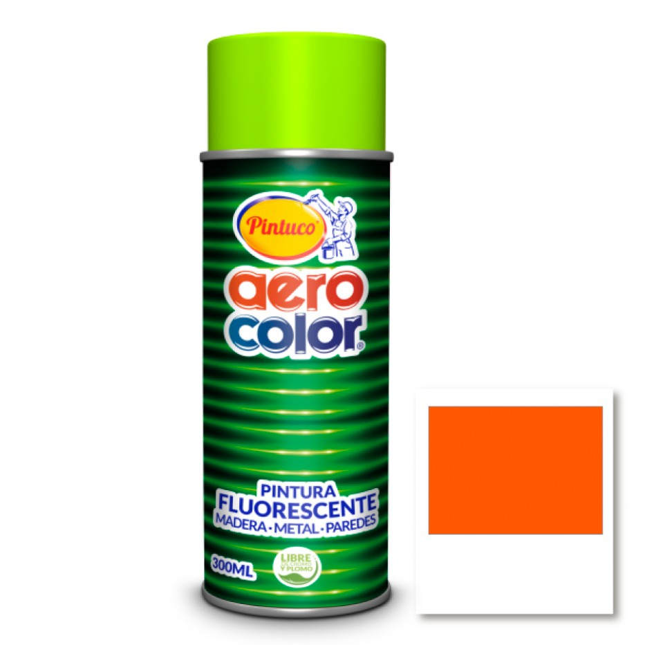 Aerocolor Laca Fluorescente Naranja 300 ml