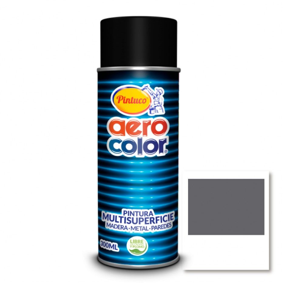 Aerocolor Laca Gris brillante 300 ml