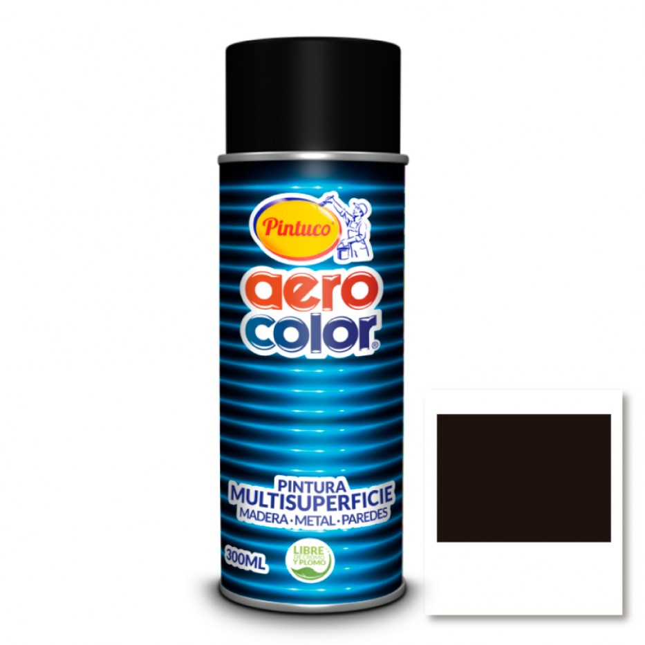 Aerocolor Laca Negro brillante 300 ml