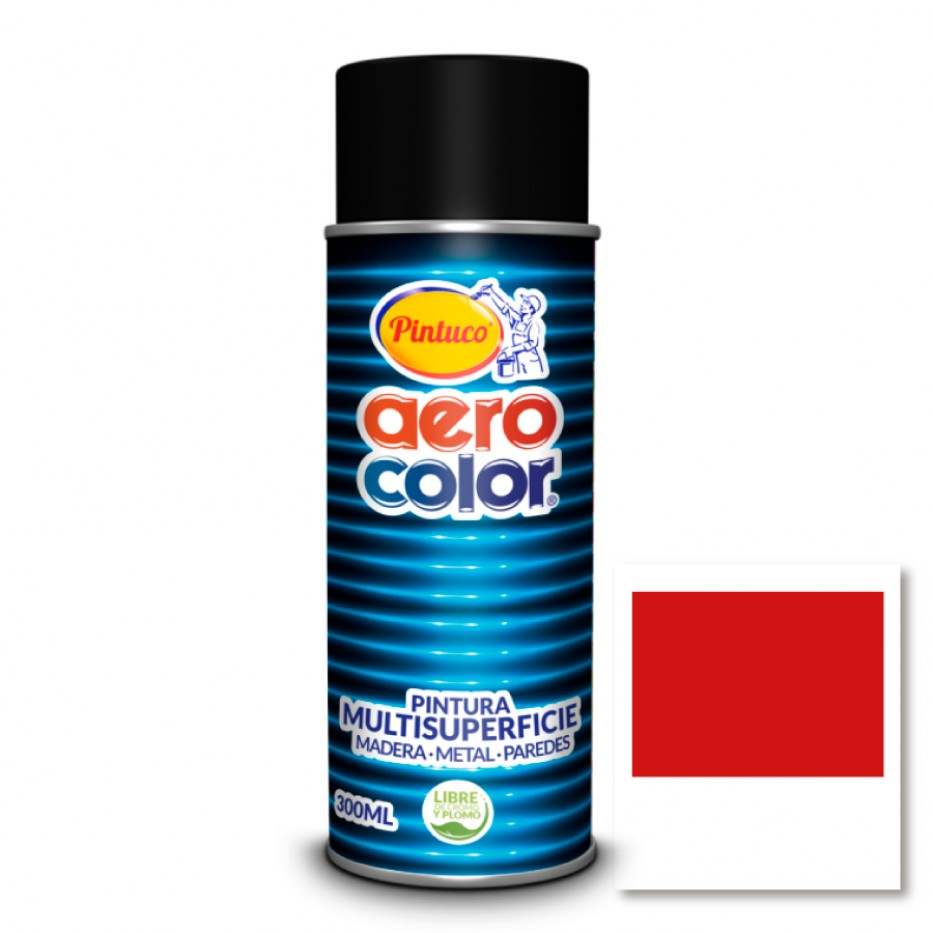Aerocolor Laca Rojo claro brillante 300 ml