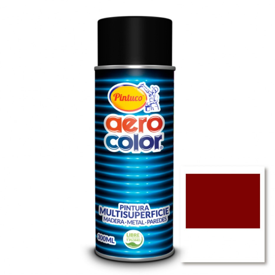 Aerocolor Laca Rojo oscuro brillante 300 ml