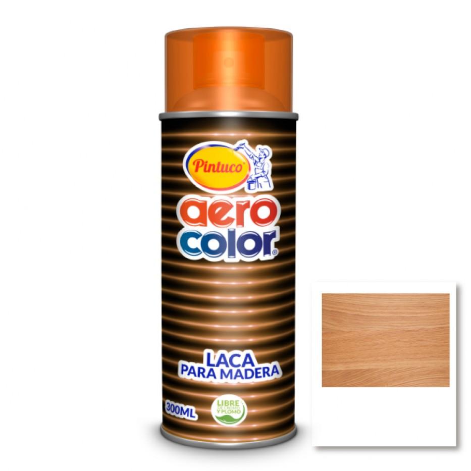 Aerocolor Laca Madera Transparente Miel 300 ml