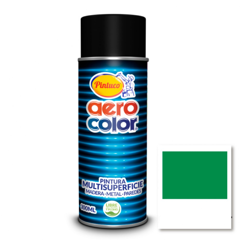 Aerocolor Laca Verde jade brillante 300 ml