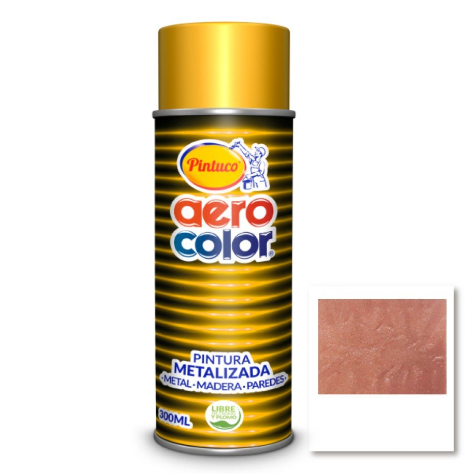Aerocolor Laca Metalizada cobre 300 ml