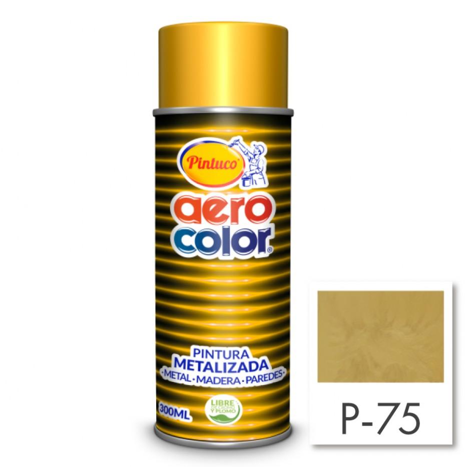 Aerocolor Laca Metalizada Oro 18 kilates 300 ml