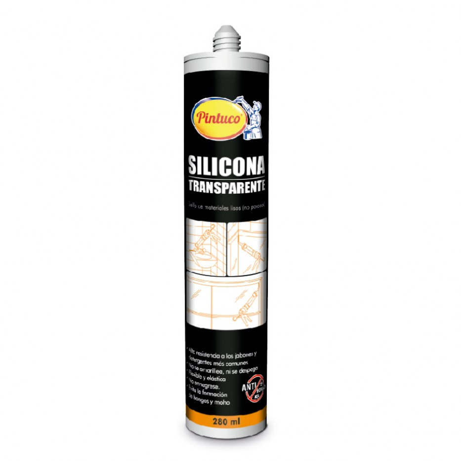 Pintuco Silicona Transparente 280 ml  3119