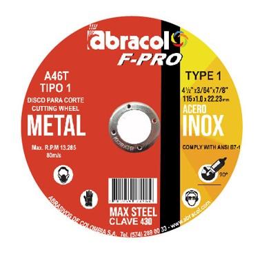 Disco de Corte FPRO 4 1/2 Max Stell Clave 430
